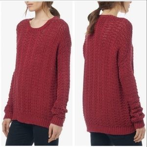 Vince Red Knit Oversized Sweater